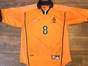1998 2000 Holland Bergkamp Home Football Shirt Adults Small Netherlands